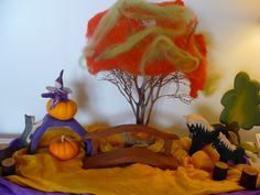 Fall Seasonal Table for children, Waldorf