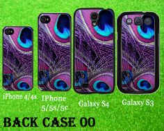 Purple Peacock Feather Case For Galaxy S3 or Galaxy by BackCase00, $15.69