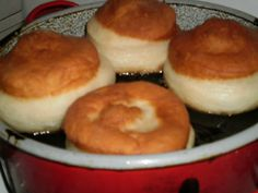Doughnut, Muffin, Food And Drink, Pudding, Breakfast, Recipes, Morning Coffee, Custard Pudding, Recipies