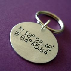 Latitude and Longitude Key Chain