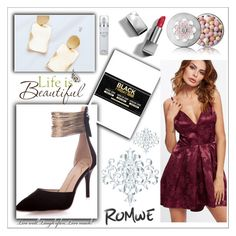 """""""Romwe 10/15"""" by dilruha ❤ liked on Polyvore featuring Brewster Home Fashions, Guerlain, Burberry and Kenneth Cole"""