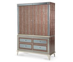 Amazing Gator Media Cabinet (2 pc) | Hollywood Swank | Michael Amini Furniture Designs | amini.com