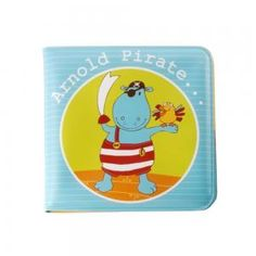 Arnold - bath book. Fun and very colorful, the bath book Arnold pirate, has very appealing images. Made in waterproof material allows the baby to be distracted and have fun at bath time.