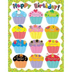 Creative Teaching Press Poppin' Patterns Happy Birthday Poster Chart by manufacturer): Celebrate birthdays throughout the year! Use to decorate bulletin boards, hallways, doors, and common areas! Birthday Chart Classroom, Birthday Bulletin Boards, Birthday Charts, Classroom Decor, Classroom Posters, Birthday Chart For Preschool, Chevron Classroom, Classroom Calendar, Classroom Teacher