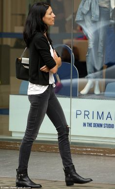 Full Sized Photo of liberty ross jimmy iovine oxford street shopping pair 05 Fashion 101, Fashion Over 50, Fashion Flats, Daily Fashion, Street Shop, Street Style, Shoes For Skinny Jeans, Jeans Shoes, Black And White Jeans