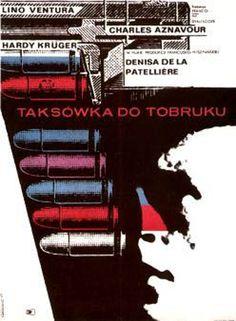 """Roman Cieslewicz (1930-1996) – Affiche pour le film """"Un taxi pour Tobrouk"""""""