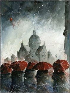 Рисунки акварелью, Grzegorz Chudy