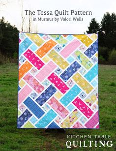 jellyroll quilts When I was just starting to write the Tessa Quilt Pattern, I received these gorgeous Murmur fabrics in the mail and knew that they were perfect for the pattern. Batik Quilts, Patchwork Quilting, Scrappy Quilts, Easy Quilts, Star Quilts, Owl Quilts, Jellyroll Quilts, Hand Quilting, Quilt Blocks