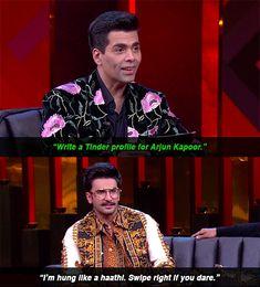 "16 WTF Moments From Ranveer And Akshay's Hyper Energetic Episode Of ""Koffee With Karan"" Ranveer Singh, Akshay Kumar, Koffee With Karan, Arjun Kapoor, Funny Memes, Jokes, Wtf Moments, Funny Bunnies, Keep Up"