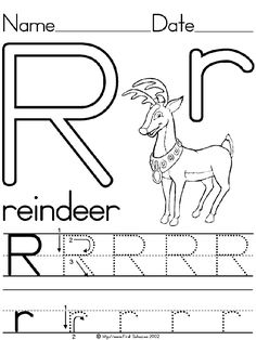R For Reindeer Worksheet 1000+ images about tra...