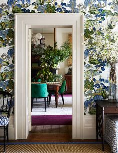 gorgeous floral wall