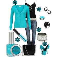 I found 'Blue is my favorite color' on Wish, check it out!   i dont like the shoes but everything else is cute