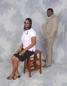 Hahaha...do the most akward 80's posed engagement photo.