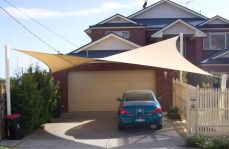 shade solutioms for backyards | Shade Area Near Inground Pool - 1800 Shade U - Shade Sails Melbourne