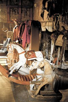 Rocking Horses ~ Chillingham Castle ~ Tack Room
