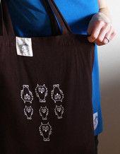 Luomupuuvillainen Untamo kangaskassi. Untamo tote bag. Ecologically and ethically produced. Organic cotton.