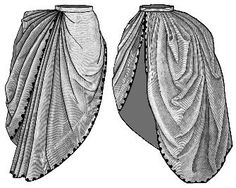 Truly Victorian 374: 1886 Bordered  Asymetrical Overskirt. (19k)