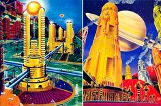 frank r. paul, city on mars and city on titan