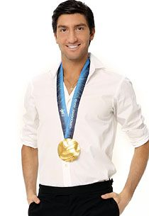 Evan Lysacek is an American figure skater who upset Evgeni Plushenko to win gold in the 2010 Olympics in Vancouver.