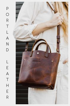 Our NEW mini crossbody tote in Cognac! Crossbody Tote, Tote Bag, Passport Cover, Leather Journal, Modest Outfits, Leather Purses, Modest Apparel, Diy Bags, Grunge Fashion