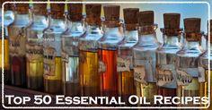 Top 50 Essential Oil Recipes | WholeLifestyleNutrition.com