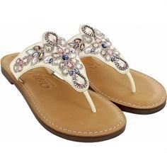 0fe7ee98c Anju Ara Beaded Thongs Flip Flop Sandals