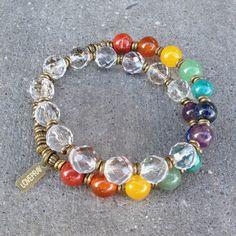 Chakra Necklace, Chakra Jewelry, Beaded Wrap Bracelets, Jewelry Bracelets, I Love Jewelry, Jewelry Making, Gemstone Jewelry, Beaded Jewelry, Diamond Initial Necklace