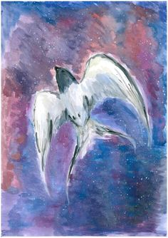 Galaxy Swallow by Tashyane.deviantart.com on @DeviantArt