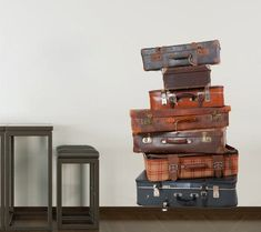 Luggage  wall decal for housewares by decalSticker on Etsy, $50.80