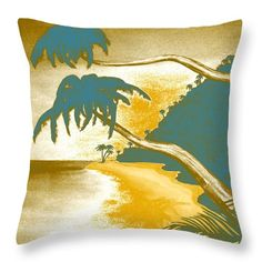 "Tropical Vibes Throw Pillow for sale from Faye Anastasopoulou – 20 ""x - Home Accessories Decor"