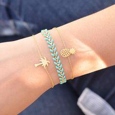 Majolie - Bracelet Pineapple Or – Majolie - Des bijoux prêts à offrir!