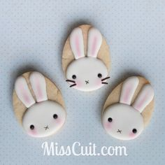 Tutorial to create simple and easy bunny cookie, just in time for Easter.