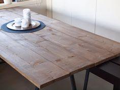linejntas småtterier: DIY: Spisebord Diy Table, Dining Table, Rustic, Lag, Furniture, Home Decor, Beige, Country Primitive, Decoration Home