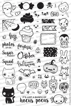 Halloween Icon Set Planner (In Stock) | The Sassy Club