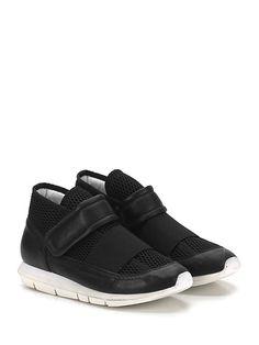 OXS - Sneakers - Uomo - Sneaker in pelle e tessuto a retina con cinturino a