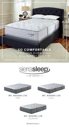 Sierra Sleep® by Ashley - Mt. Rogers Mattresses - So Comfortable Your Alarm Clock Will Want to Sleep In! - Ashley Furniture - #AshleyFurniture