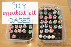 Thrifty DIY essential oil cases. Yay!!!