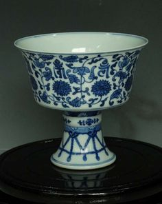 Fine Chinese Qing Blue and White Porcelain Steamcup : Lot 3709