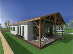 Proiecte case.Proiecte case parter.Casa A05 www.oncasa.ro - YouTube