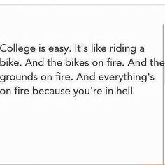 college is like riding a bike - Google Search