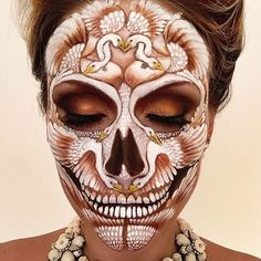 This MUA's Insane Skeleton Creations Make Us Want Halloween to Come Early