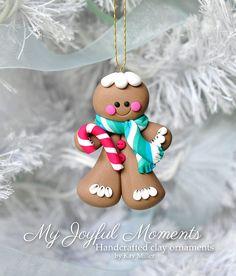 Handcrafted Polymer Clay Gingerbread Man por MyJoyfulMoments
