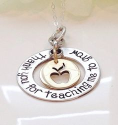 Teachers Necklace -Hand Stamped -Personalized Jewelry-Teacher Gift-Teacher Necklace-Teach appreciation gift on Etsy, $34.00