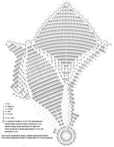 Схема и описание вязания крючком салфетки «Пуансетия» из журнала «Diana Креатив» №12/2015