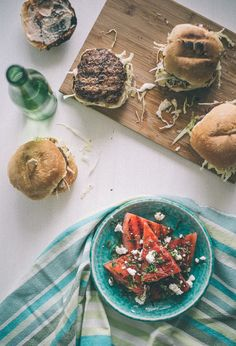 Lamb Burgers with a Chargrilled Watermelon Salad