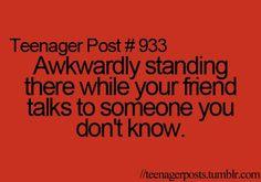 Soooooooooooooo happened to me, like, yesterday...