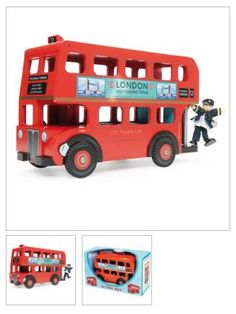 Toy London Bus and Driver available from Toycraft, Watergate Street, Chester