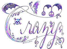 """""""Crazy LOVE"""" tattoo design by Denise A. Wells by ♥Denise A. Wells♥, via Flickr"""