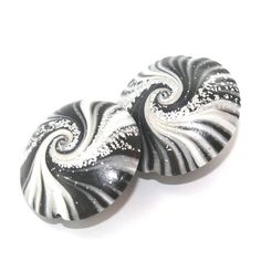 Elegant beads focal beads in stripes pattern swirl by ShuliDesigns, $8.00