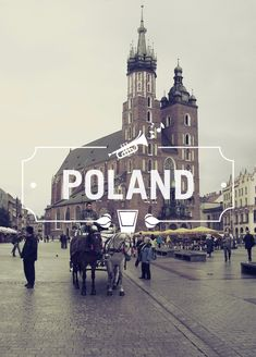 Poland - Cities & Typography by Gokhun Guneyhan, via Behance Oh The Places You'll Go, Places To Travel, Places Ive Been, Places To Visit, Europe Places, Travel Sights, Travel Destinations, Dream Vacations, Vacation Spots